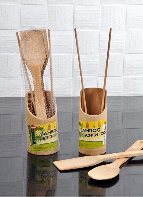 Bayev Yuvarlak Bamboo Kaşıklık Renkli